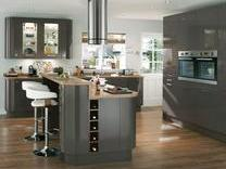 Glendevon Graphite Kitchen with inergrated appliances