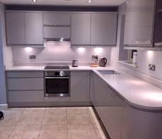 Burford Grey Kitchen with Free Standing Fridge Freezer