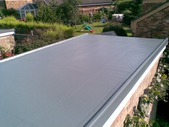 G.R.P. Fibreglass garage roof