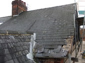 Slate roof in need of repair