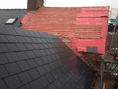 New slate roof in progress