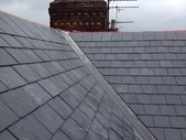 New slate roof and lead valley