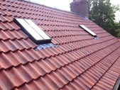 New roof with Velux windows and Santfoft Olympus Flanders clay tiles