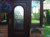 Wood effect UPVC door